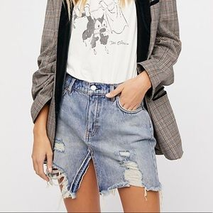 Free People denim skirt 31